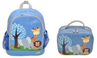 Bobble Art Bundle of Small Backpack and Small Lunch Bag - Safari