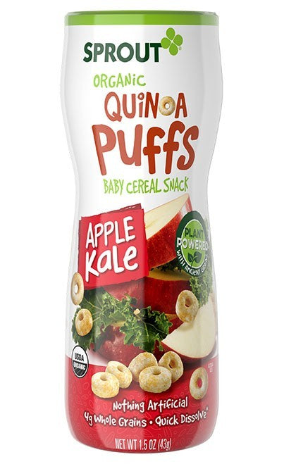 Sprout Organic Quinoa Puffs - Apple Kale
