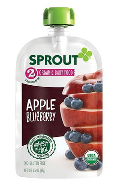 Sprout Organic Stage 2 Apple Blueberry 3.5 oz