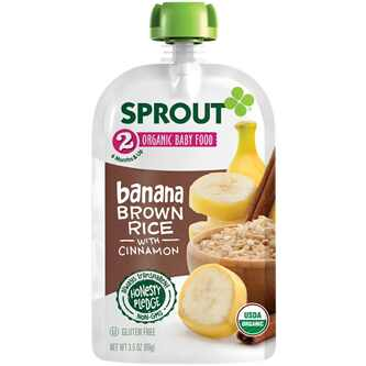 Sprout Organic Stage 2 Banana Brown Rice 4 oz