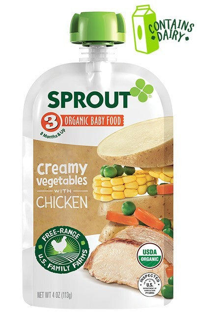 Sprout Organic Stage 3 Creamy Vegetables with Chicken  4 oz