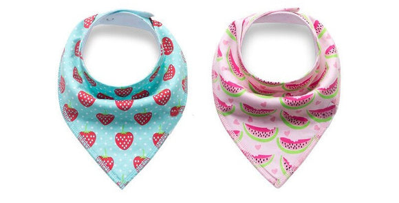 Bandana Bibs - Strawberry and Watermelon