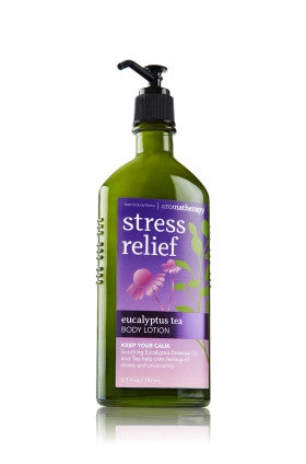 Bath and Body Works Aromatherapy Stress Relief Eucalyptus Tea Body Lotion 6.5 fl. oz.