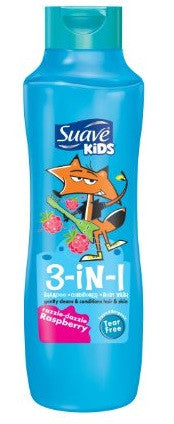 Suave for Kids Kids 3-in-1 Shampoo, Conditioner & Body Wash - Razzle Dazzle Raspberry 22.5 fl oz