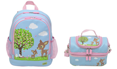 Bobble Art Bundle of Large Backpack and Large Lunch Bag - Woodland Animals