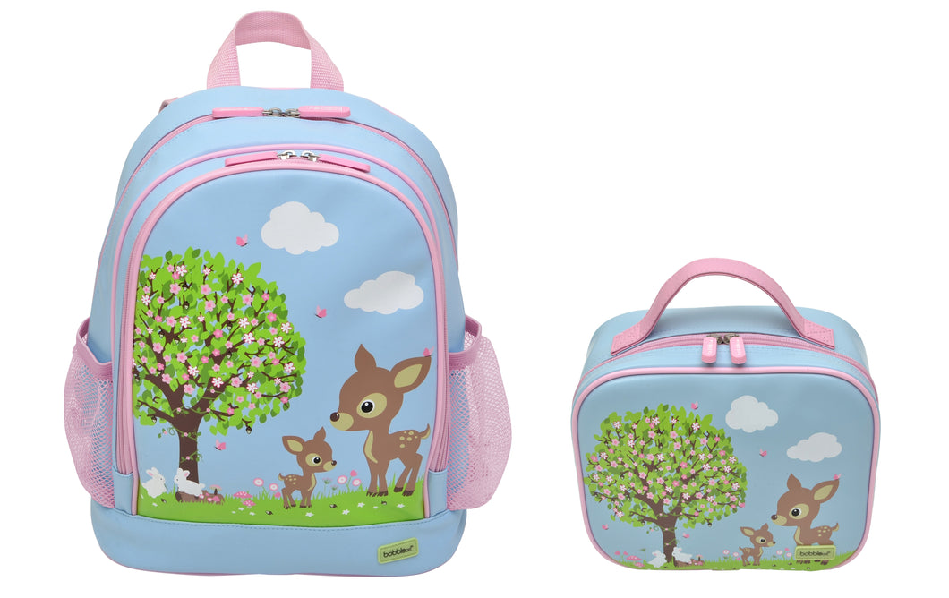 Bobble Art Bundle of Small Backpack and Small Lunch Bag - Woodland Animals
