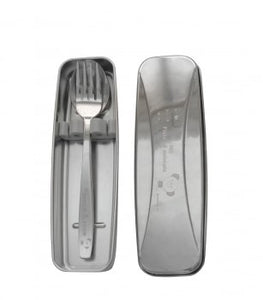 Stenlock SS Spoon + Fork with Stainless Case Set