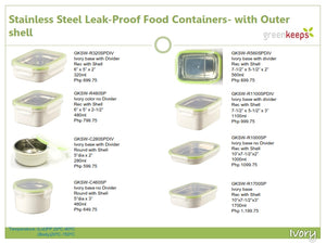 Greenkeeps Stainless Steel Leak Proof Containers