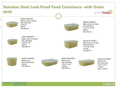 Greenkeeps Stainless Steel Leak Proof Food Containers (2)