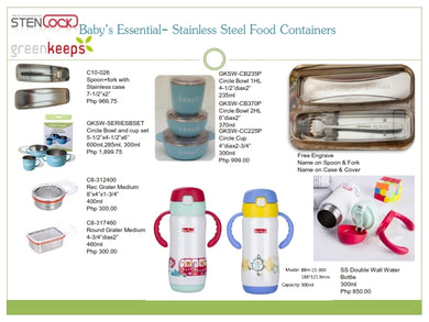 Stenlock Baby's Essentials - Stainless Steel Food Containers