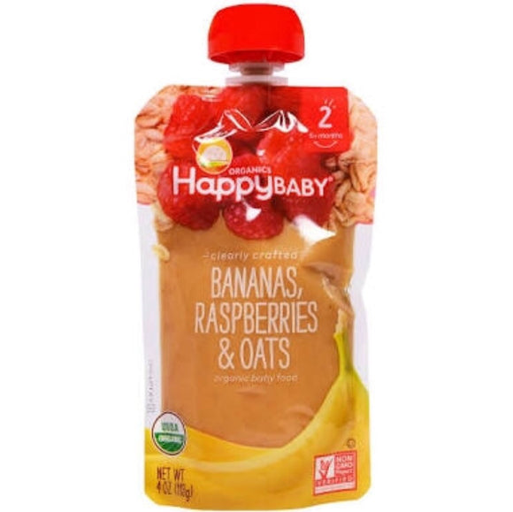Happy Baby Clearly Crafted Bananas, Raspberries and Oats