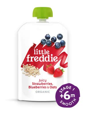 Little Freddie Juicy Strawberries, Blueberries and Oats