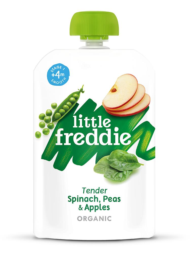 Little Freddie Tender Spinach, Peas & Apples