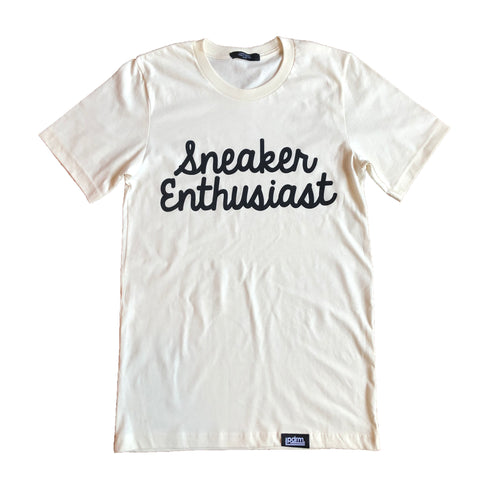 "PDRM Sneaker Enthusiast Tee ""Cream"" (Sizes: S, M, XL, & XXL)"