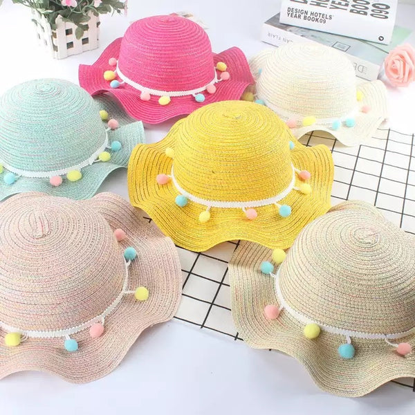 GIRLS STRAW HAT COLOURS
