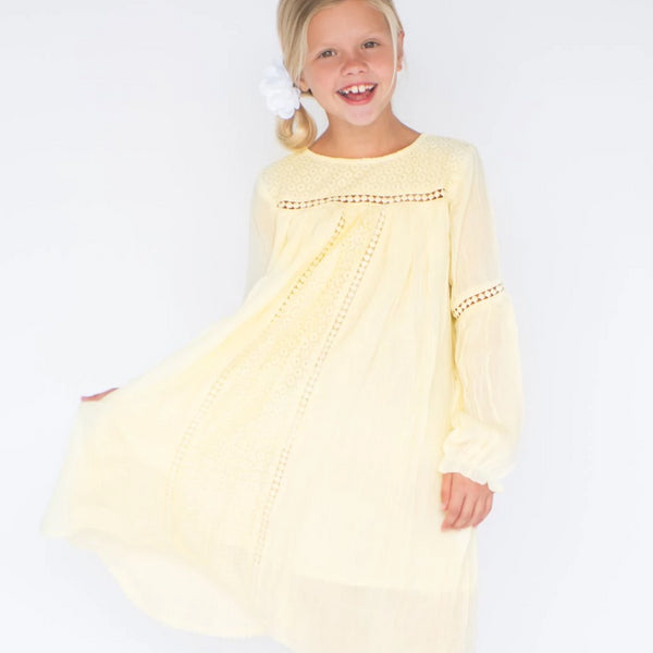 LACE DRESS YELLOW
