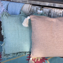 LINEN BLEND CUSHION MINT