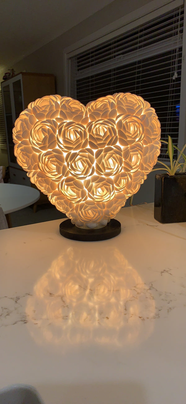 BLOSSOMS - HEART SHELL LAMP