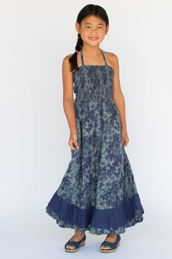 YO BABY - HALTER DRESS BLUE