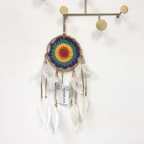RATTAN RAINBOW DREAM CATCHER