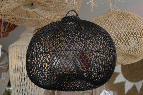 Natural Rattan Round Lampshade