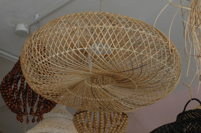 Natural Rattan Round Saucer Shaped Lampshade