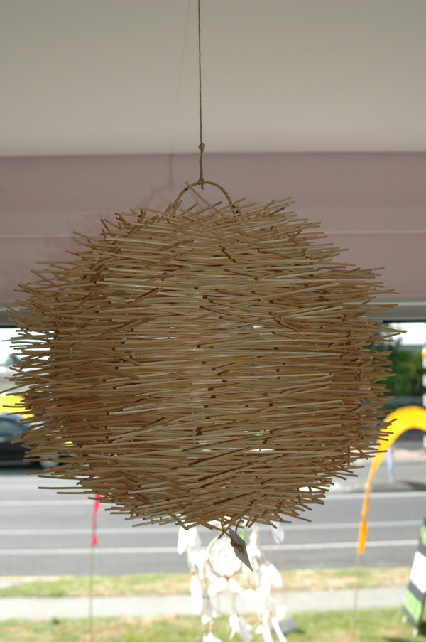 Rattan 'Birds Nest' Lampshade