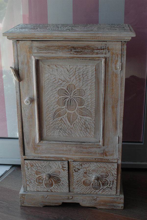 Flower Pattern Cupboard/Bedside