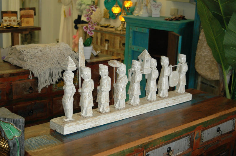 Indonesian Procession Carving