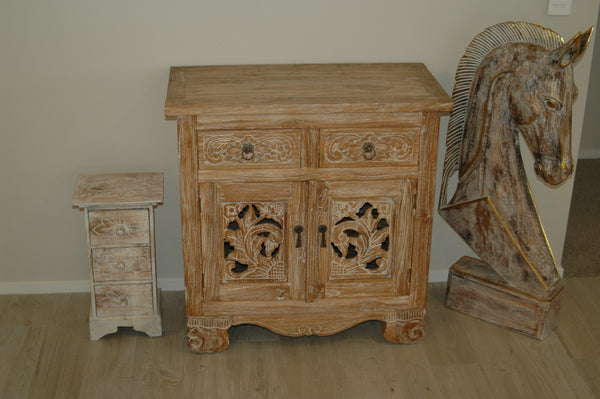 Carved vanity chest