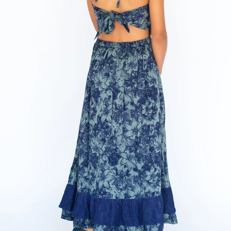 HALTER DRESS BLUE