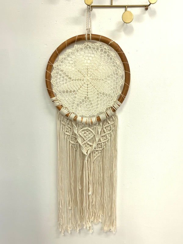BLOSSOMS - MEDIUM RATTAN & MACRAME DREAM CATCHER