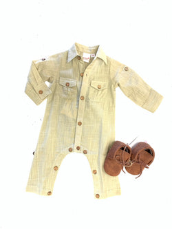 BLOSSOMS - BABY BOY SHIRT ROMPER