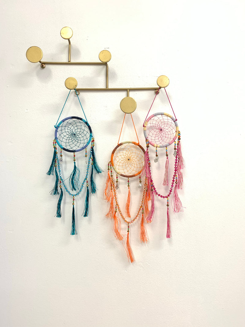 BLOSSOMS - JEWEL & TASSEL DREAM CATCHER