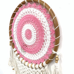PINK RATTAN DREAM CATCHER DETAIL