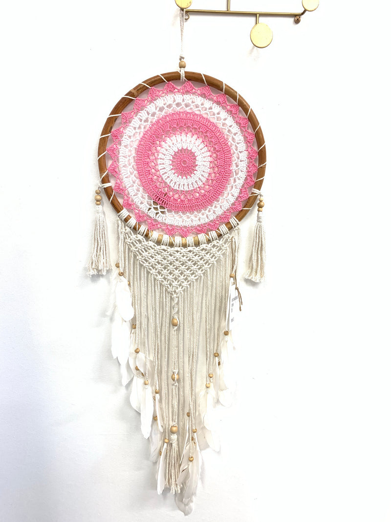 PINK RATTAN DREAM CATCHER