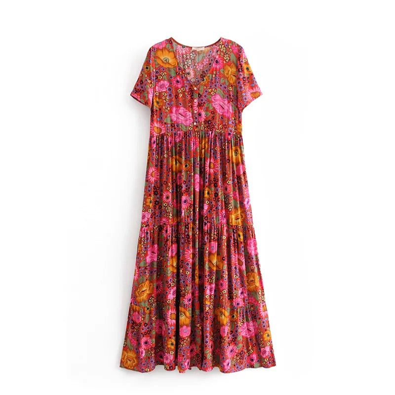 BLOSSOMS - LONG ROSIE DRESS