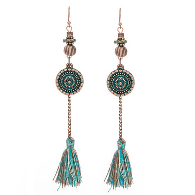 Long Frringed Bohemian Vintage earrings