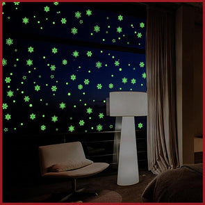 Christmas Snowflake Luminous wall stickers