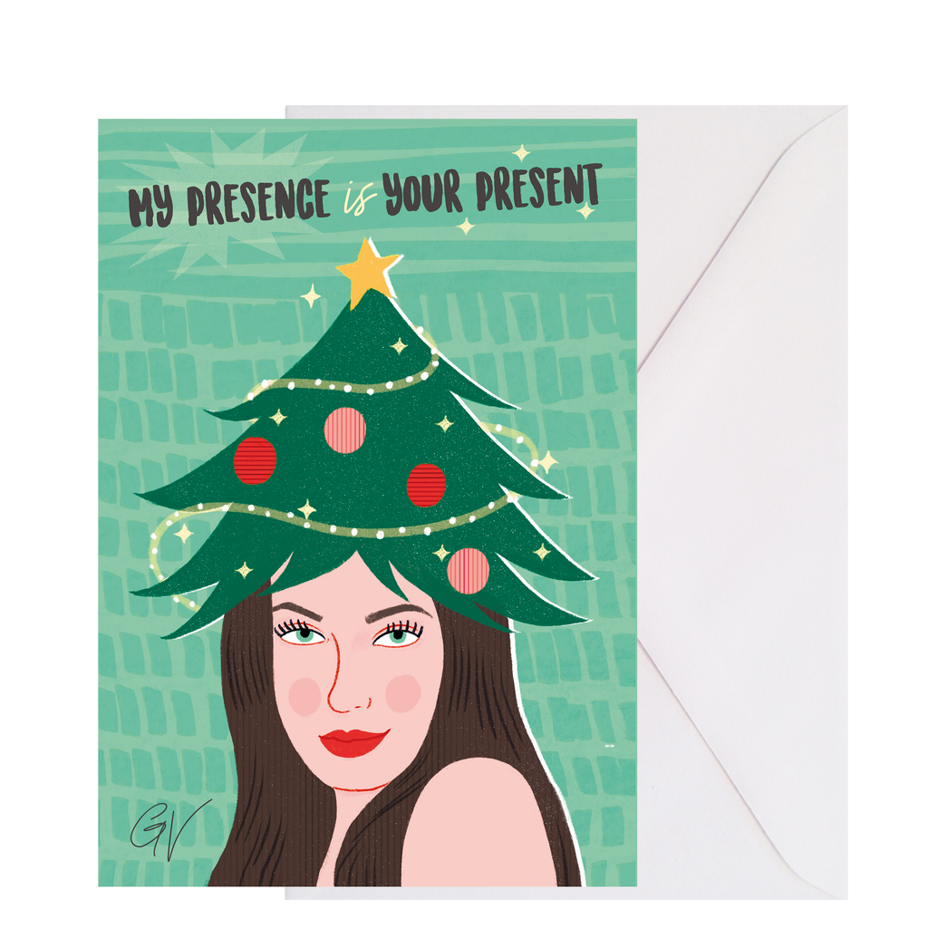 XMAS CARD - My presence is your present, Giulia