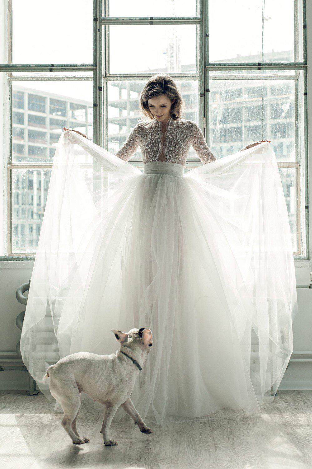 Vintage Beaded Wedding Dress and A-Line Tulle Skirt - Mr. & Mrs. Tomorrow