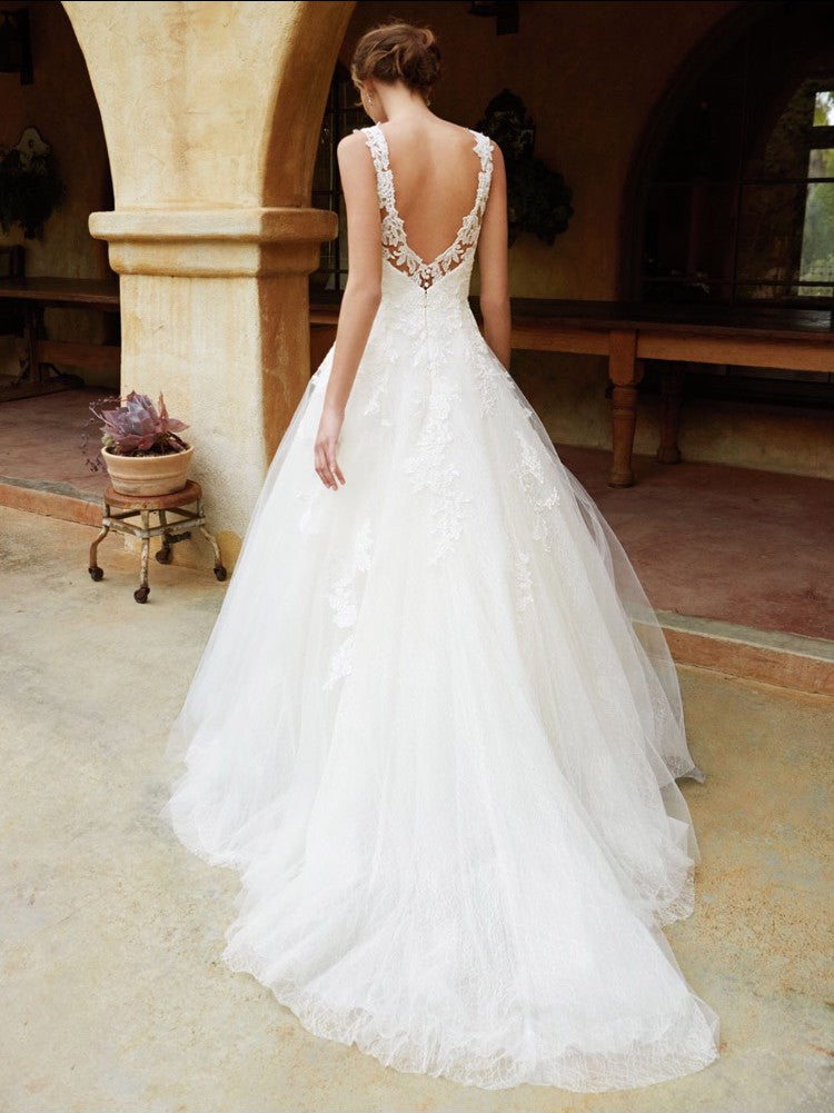 Graceful Alluring Backless O Neck Ball Gown - Mr. & Mrs. Tomorrow