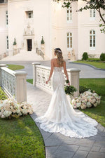 Elegant Backless Mermaid with Court Train - Mr. & Mrs. Tomorrow