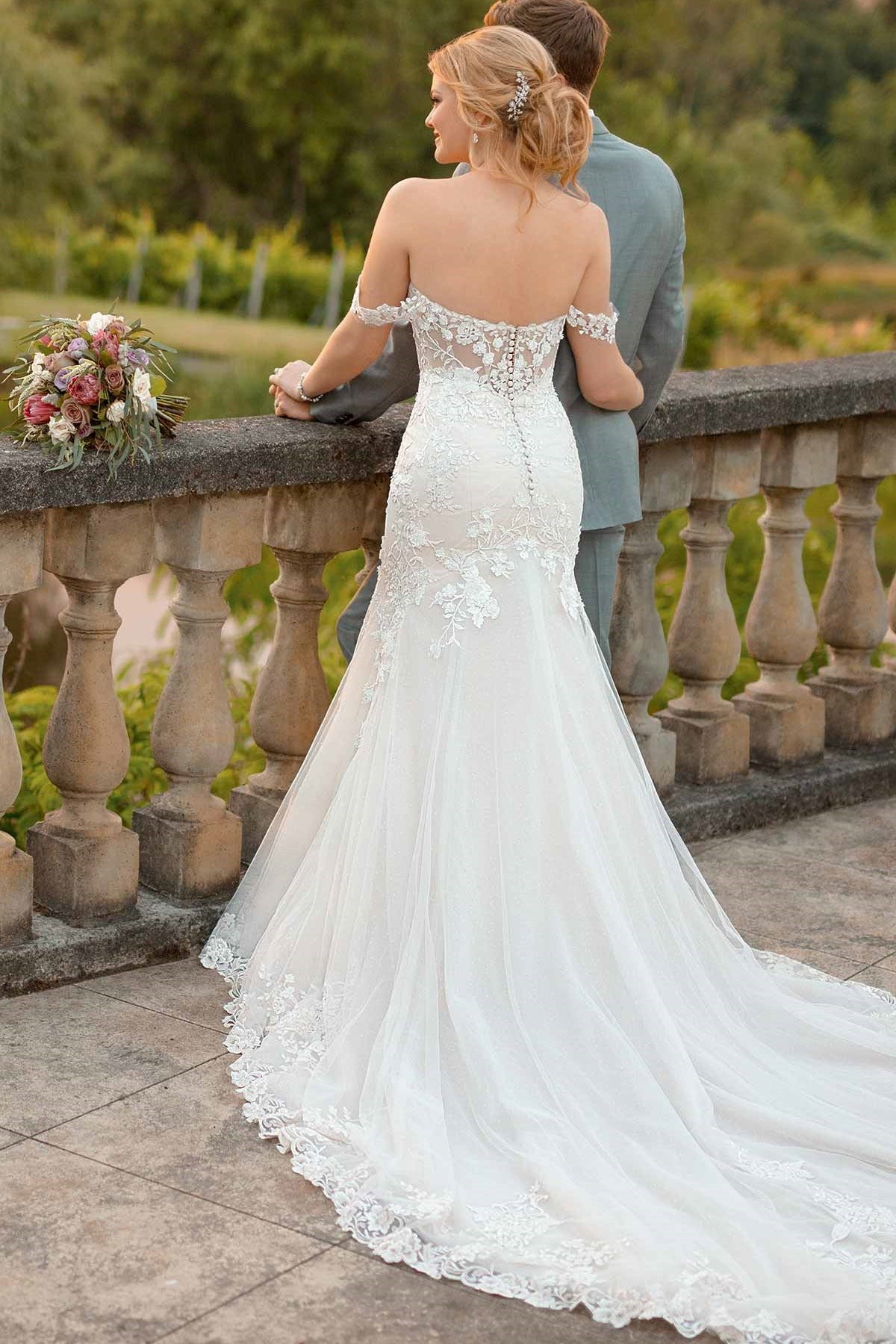 Romantic Trumpet with Lace Off Shoulder - Mr. & Mrs. Tomorrow