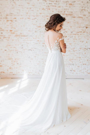 Sexy Boho Side Split Cap Sleeve A-Line - Mr. & Mrs. Tomorrow