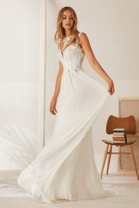 Elegant Boho Top Appliques Open Back Sheath - Mr. & Mrs. Tomorrow