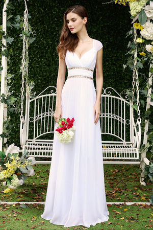 Beaded Vintage Sheath Wedding Dress - Mr. & Mrs. Tomorrow