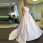 One Shoulder Satin Ball Gown - Mr. & Mrs. Tomorrow