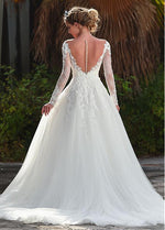 Romantic Open Back A-Line Wedding Dress - Mr. & Mrs. Tomorrow