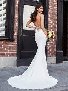 Sexy Backless Soft Satin Mermaid - Mr. & Mrs. Tomorrow